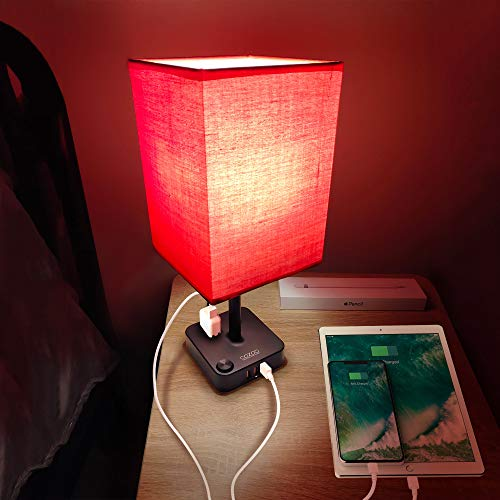 red and black lamps - 2