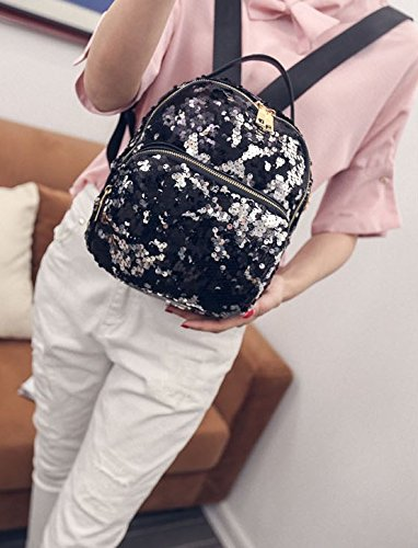 Novias Boutique Sequined Black Women Party Travel Bag for Backpack Bags Pink Girls Shoulder Fashion AAIrZx