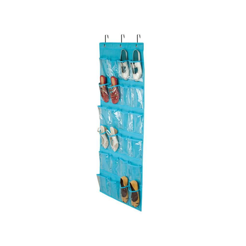 KOROWA 24 Pockets Simple Houseware Crystal Clearing Over The Door Hanging Shoe Telephone Organizer
