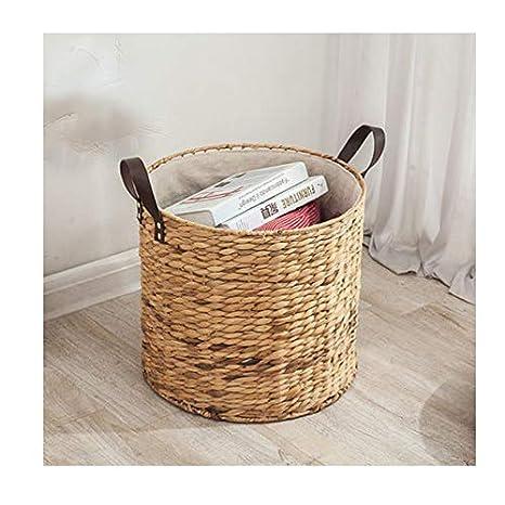macetas y Bolsa de Playa Brownrolly para Picnic 2 cestas de Mimbre para el Vientre con Asas