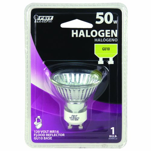 Buy feit electric 50w gu10 mr16 120 volt halogen lamps