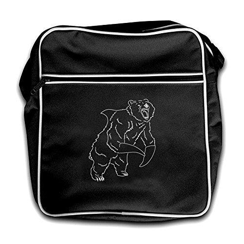 Flight Red Shark Bear Bag Dressdown Retro Black 0wUzqHOP