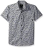 Quiksilver Big Boys' Akan Waters Youth Button up Shirt, Sleet Mechanical Ditsy, L/14