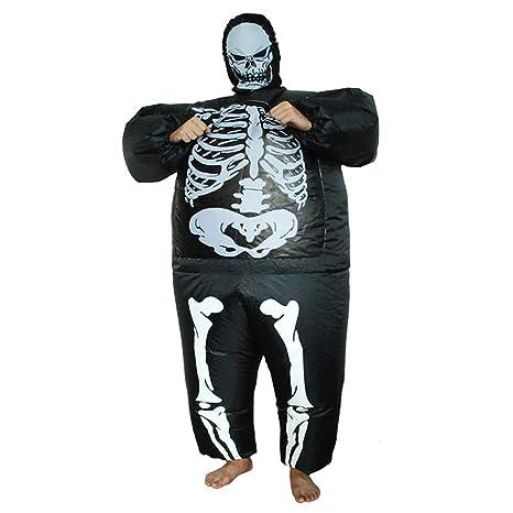 Yonji - Traje Hinchable para Halloween, Disfraz de Esqueleto para ...