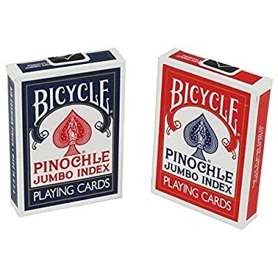 Bicycle Pinochle Playing Cards Jumbo Index 2 Decks: Sports & Outdoors