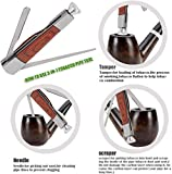 Scotte Tobacco Pipe Handmade Pear Wood Root Smoking Pipe Gift Box and Accessories