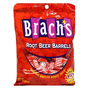 Brach's A&W Root Beer Barrels, 7.5-Ounce Bags (Pack of 12)