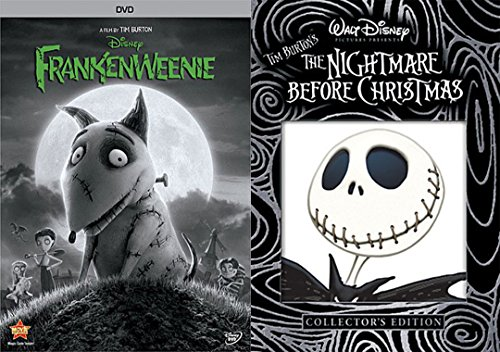 Tim Burton Halloween Set 2-DVD Bundle Frankenweenie & Nightmare Before Christmas (Collector's Edition) Bundle
