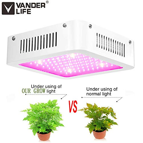 1000W LED Grow Light – Dual Chips Full Spectrum LED Grow Lights Hydroponic Indoor Plants Veg and Flower- 96 LEDs