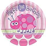 Ladybug 1st Birthday Dessert Plates, 8ct