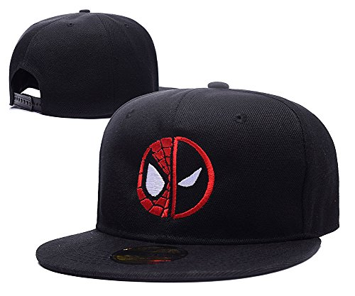 Mustang Embroidery (LIFA Deadpool Spider Man Face Hat Embroidery Snapback Cap)