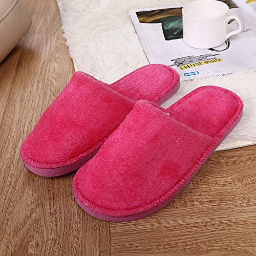 NUWFOR Women Warm Home Plush Soft Slippers Indoors Anti-Slip Winter Floor Bedroom Shoes(Hot Pink,8.5-9.5 M US) by NUWFOR (Image #1)