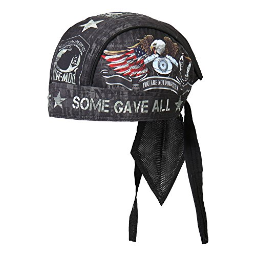 Hot Leathers Never Forgotten Head Wrap - Ride Cap Skull