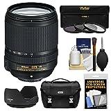 Nikon 18-140mm f/3.5-5.6G VR DX ED AF-S Lens with Case + 3 UV/CPL/ND8 Filters + Hood Bundle for D3200, D3300, D5300, D5500, D7100, D7200 Cameras