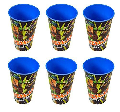 6-Pack Teenage Mutant Ninja Turtles 17oz Theatre Fun Reusable Tumbler Cups -