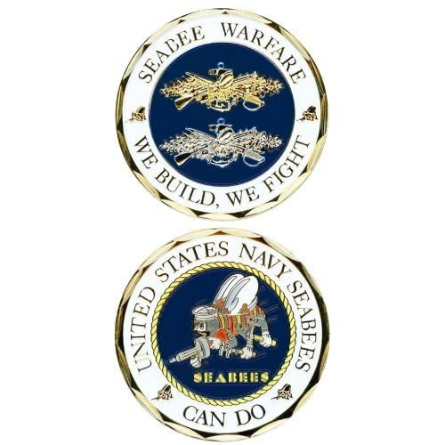 United States Seabee Warfare Challenge Coin by Navy Challenge Coins