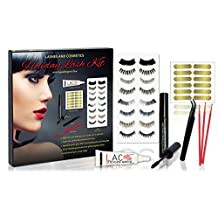 Eyelash Kit for All Holidays | 8 Sets Flexi Band Lashes | Apply Lashes on Easily with New Lash Tabs | Precision Curved Tweezers | Hypoallergenic Glue by Lashes and Cosmetics