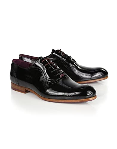66930b10856093 Ted Baker Men s Hallgh Patent Derby Shoes - Black - 9  Amazon.co.uk ...