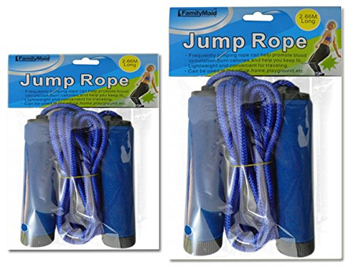 JUMP ROPE 2.66M LONG W/HANDLE PINK, GREEN, BLUE, YELLOW CLR , Case of 144 by DollarItemDirect