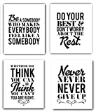 bedroom ideas for young women Motivational Inspirational Quotes UNFRAMED Art Prints Set of 4 8x10