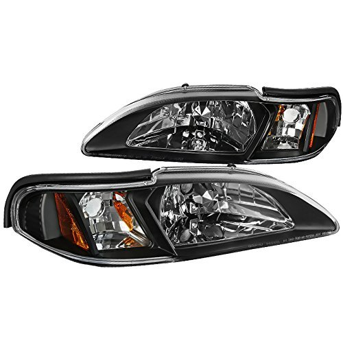 Spec-D Tuning 2LCLH-MST94JM-TM Black Headlight (Crystal Housing)