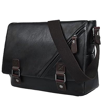 0ab8cb0c74 Vbiger Men Shoulder Bag PU Leather Messenger Bag Classic Briefcase  Multi-functional Business Bag