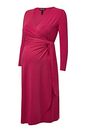 4970dfa02 Isabella Oliver Maternity The Wrap Dress - Pink Rose - 0 (US Size 0-2) at  Amazon Women's Clothing store: