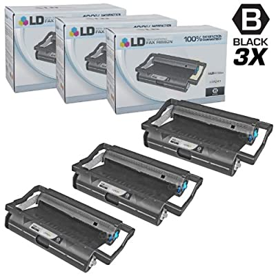 LD Compatible Replacements for Brother PC201 Set of 3 Fax Cartridges With Roll for use in Brother Intellifax 1170, 1270, 1270e, 1570MC, 1575MC, MFC 1770, 1780, 1870MC, and 1970MC Printers