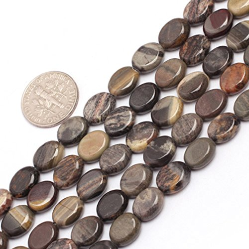 8x10mm Oval Gemstone Silver Leaf Jasper  - Natural Silver Leaf Jasper Beads Shopping Results