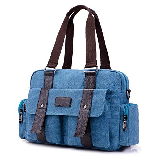 Frauen Jahrgang Leinwand Schulter Ipad Messenger Handtasche Schule Outdoor Tasche ,E-OneSize