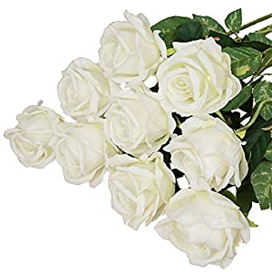 BLagenertJ 1Pc Artificial Real Looking Fake Roses Flower Garden Home DIY Wedding Bridal Party Decor (2#) 2