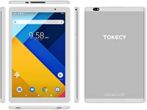 Tablet 10 Inch 2.4G/5G WiFi, 6GB RAM 64GB ROM Octa-core Android 9 Tablet,Tokecy 1280x800 IPS HD Eye Protection Display Tablet,G+G 2MP+5MP Dual Camera Bluetooth GPS(Silver)