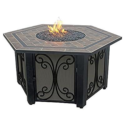 Uniflame 41.75 in. Hexagon Slate Tile Propane Fire Table