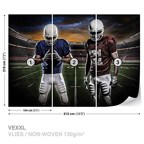 American Football Stadium Wall Mural Photo Wallpaper Room Décor (1110WS) (Football Mural)
