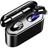 True Wireless Earbuds Bluetooth 5.0 Earbuds TWS 5D Stereo Bluetooth Earphones X8 Mini Waterproof Headfrees with Charging Box 2200mAh Power Bank