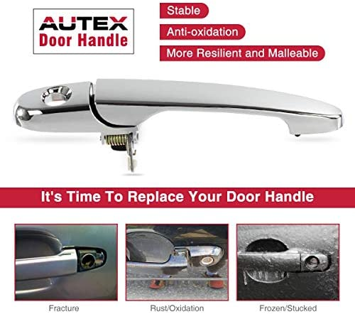 Amazon Com Autex Door Handle 80532 Chrome Exterior Front Left Driver Side Compatible With Lacrosse Compatible With Solstice G5 2005 2009 Compatible With Impala 07 08 09 10 11 12 13 Door Handle Automotive