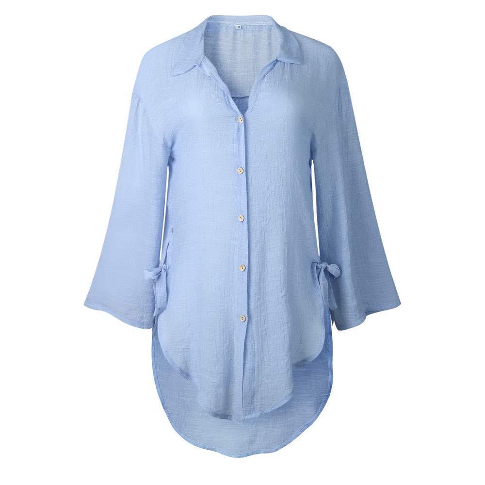 Blusa de Mujer, BaZhaHei, Camisa de Manga Larga para Mujer Formal Oficina Trabajo Uniforme Señoras Casual Tops para Mujer Camisetas de Manga Larga de Solapa ...