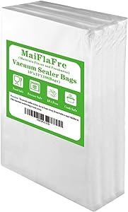 MaiFlaFre 100 Plus Quart 10X13 Food Saver Vacuum Sealer Bags with Commercial Grade, BPA Free, Heavy Duty.Vacuum Sealer Freezer Bags Compatible with Any Types Vacuum Sealer