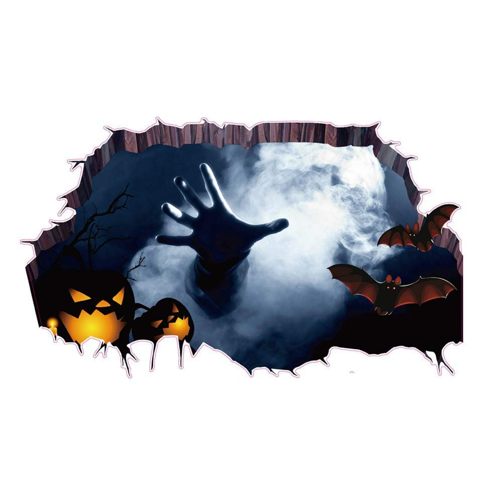 3D Halloween Horror Hand Wall Stickers Decoration Removable, Self Adhesive Haunted House Decor Wall Stickers Ghost Through The Wall Bahpaud