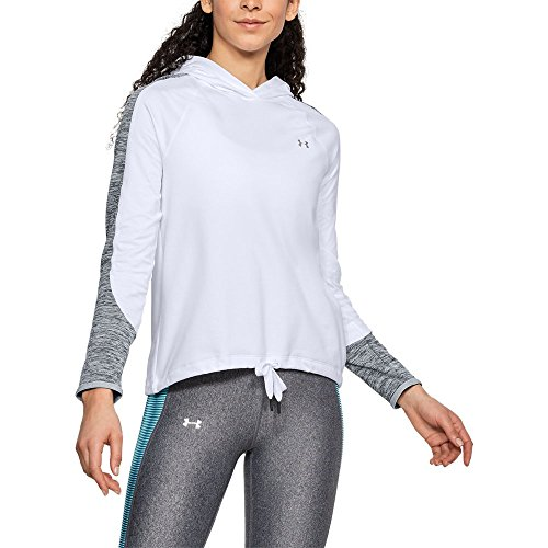 Under Armour Women's ColdGear Armour Pullover, White (100)/Metallic Silver, -