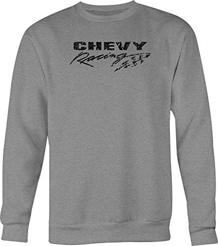 DISTRESS Chevy Racing Checkered Flag Mens Crewneck Shirt - 2XL