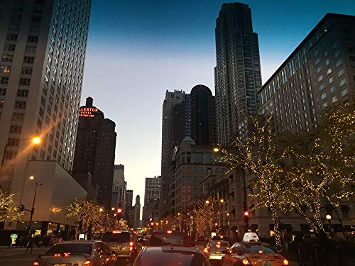 Home Comforts Framed Art for Your Wall Architecture Chicago Building Downtown City Vivid Imagery 10 x 13 Frame