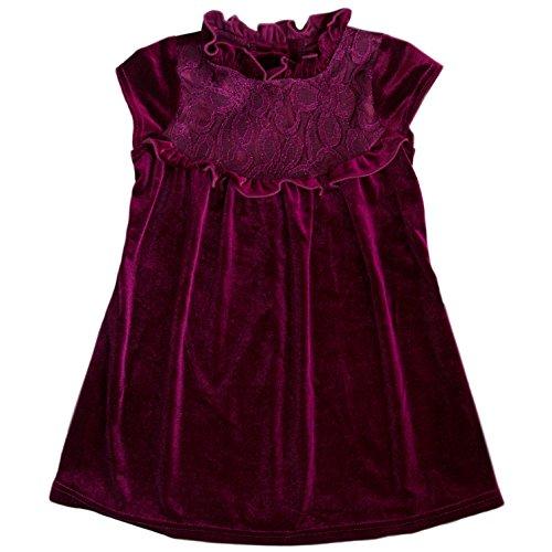 Velvet Yoke (Good Lad 2/6X Purple Velvet Dress With Lace Yoke (2T))