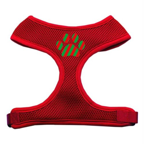 - Mirage Pet Products Christmas Paw Screen Print Soft Mesh Dog Harnesses, X-Large, Red
