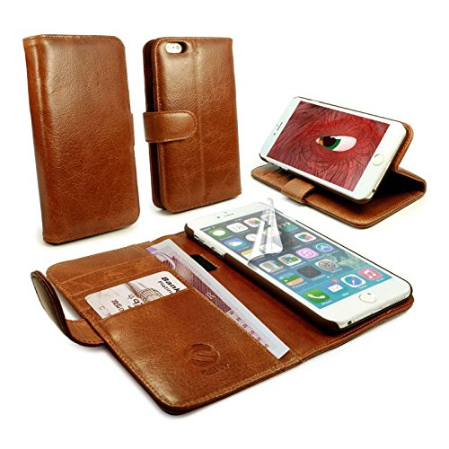 tuff-luv-vintage-genuine-leather-wallet-style-case-cover-for-apple-iphone-6-plus-brown