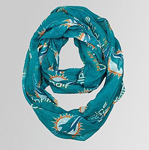 Miami Dolphins Little Earth Productions Sheer Infinity Scarf - Miami Outlet Fashion