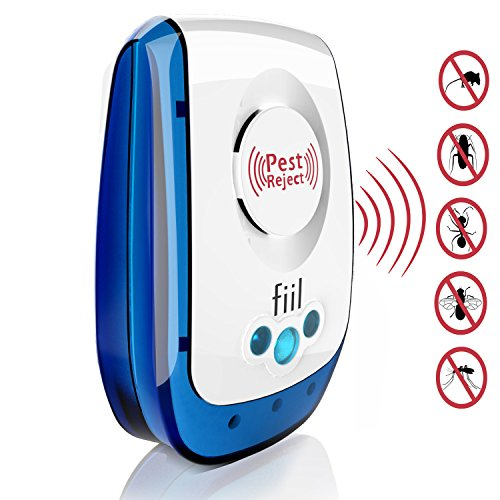 FIIL New Pest Control Ultrasonic Repellent- Best Electronic Plug In Pest Repeller- Repels Mice, Rats, Roaches,