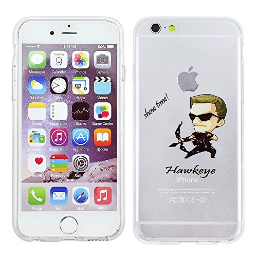 """iPhone 6/6s (4.7"""") Marvel Comic Silicone Phone Case / Gel Cover for Apple iPhone 6S 6 (4.7"""") / Screen Protector & Cloth / iCHOOSE / Hawkeye"""