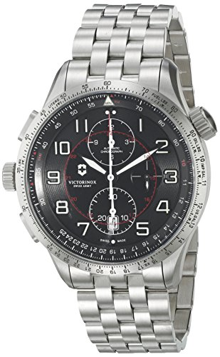 Victorinox Men's 'AirBoss' Swiss Automatic Stainless Steel Casual Watch, Color:Silver-Toned (Model: 241722) (Victorinox Watch Men Mach)