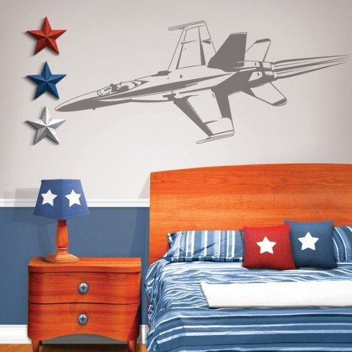 Sudden Shadows Military Fighter Jet Giant Wall Sticker